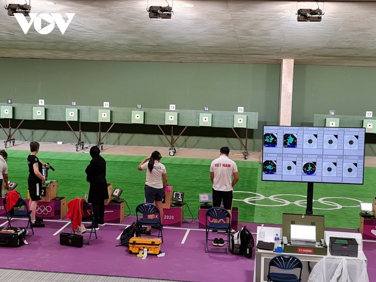 As the team's brightest prospect, Hoang Xuan Vinh practices shooting. At the2016 Rio Olympicsheld in Brazil, the nation was able to secure one gold and one silver medal for the first time in history thanks to the magnificent efforts of marksmanHoang Xuan Vinh.