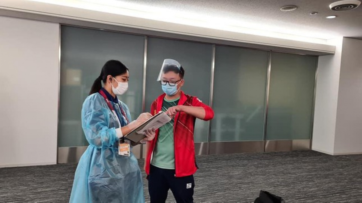 Once every member tests negative for the SARS-CoV-2 virus, the delegation are immediately taken to the athletes' village without undergoing any isolation period.