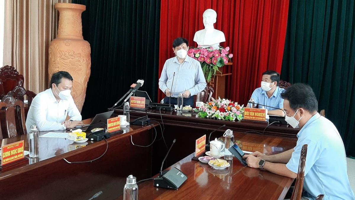 Bộ trưởng Bộ Y tế làm việc với lãnh đạo tỉnh Vĩnh Long về công tác phòng chống dịch bệnh Covid 19