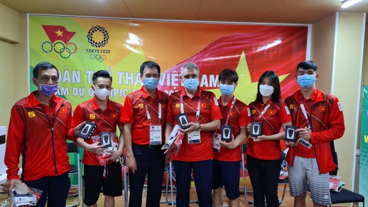 Đoàn thể thao Việt Nam sẽ có 24 thành viên tham dự lễ khai mạc Olympic Tokyo 2020 vào 18h tối nay. (Ảnh: Đoàn thể thao Việt Nam).
