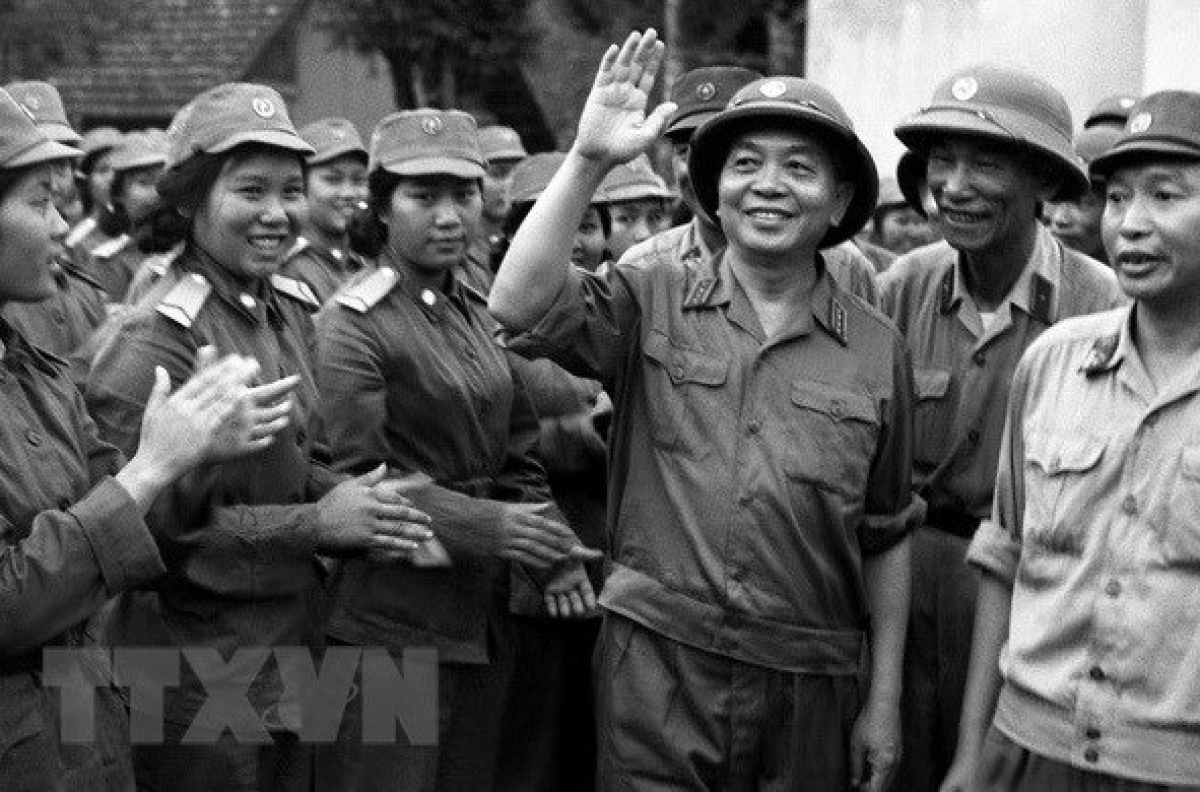 General Vo Nguyen Giap led the Vietnamese people to victory over the French colonialists and then the American imperialists (VNA File Photo)
