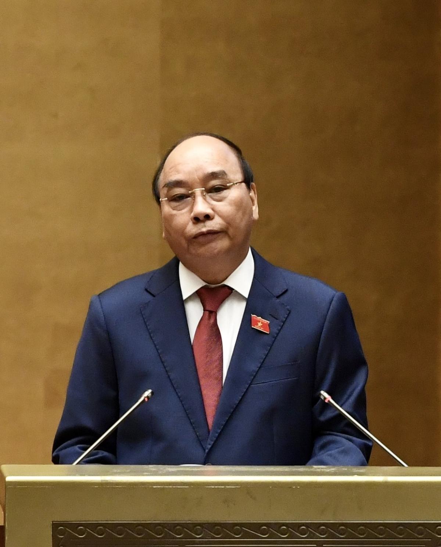 Chủ tịch nước Nguyễn Xuân Phúc phát biểu nhậm chức trước Quốc hội