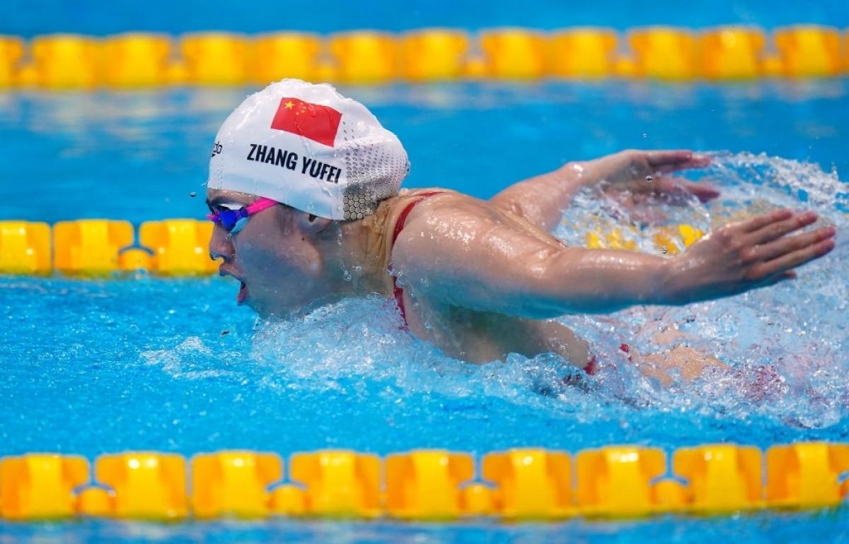 Zhang Yufei của Trung Quốc đã giành HCV ở nội dung 200m bơi bướm cá nhân nữ (Ảnh: Getty).