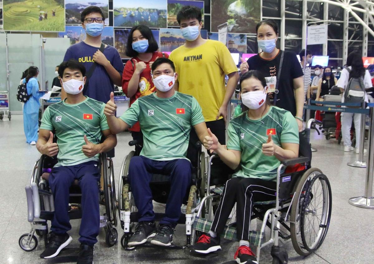 Đoàn thể thao người khuyết tật Việt Nam lên đường dự Paralympic Tokyo 2020