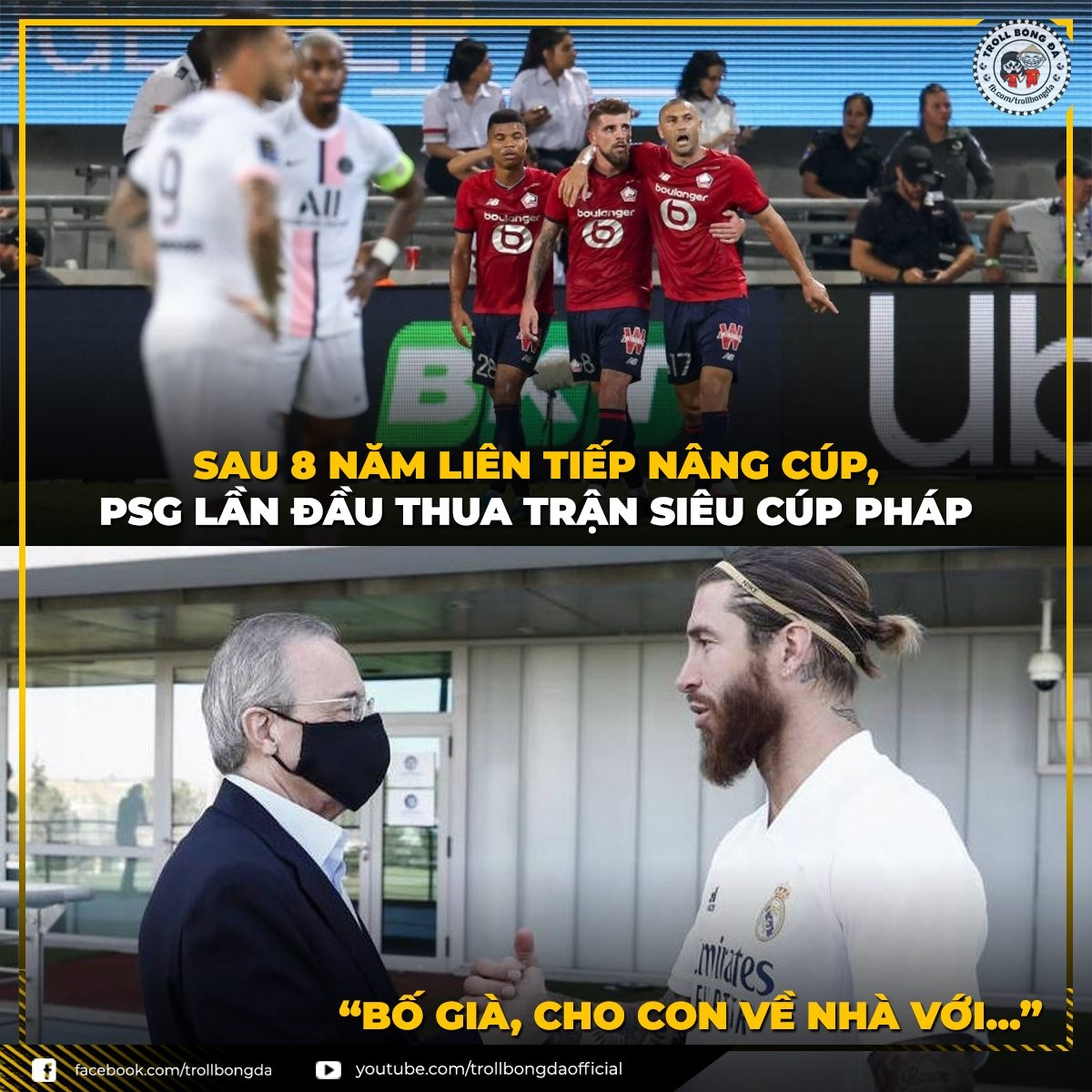 """Sergio Ramos bắt đầu """"hối hận"""" khi đến PSG (Ảnh: Troll bóng đá)."""