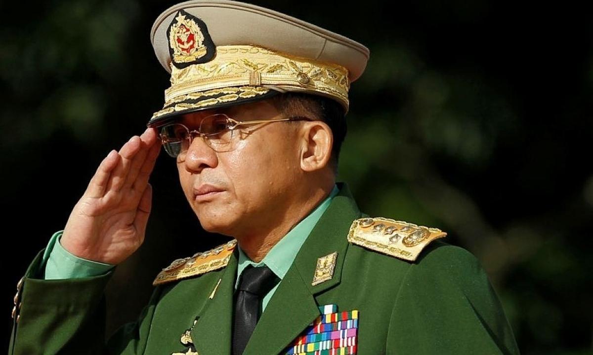 Thống tướng Min Aung Hlaing. Ảnh: Reuters.