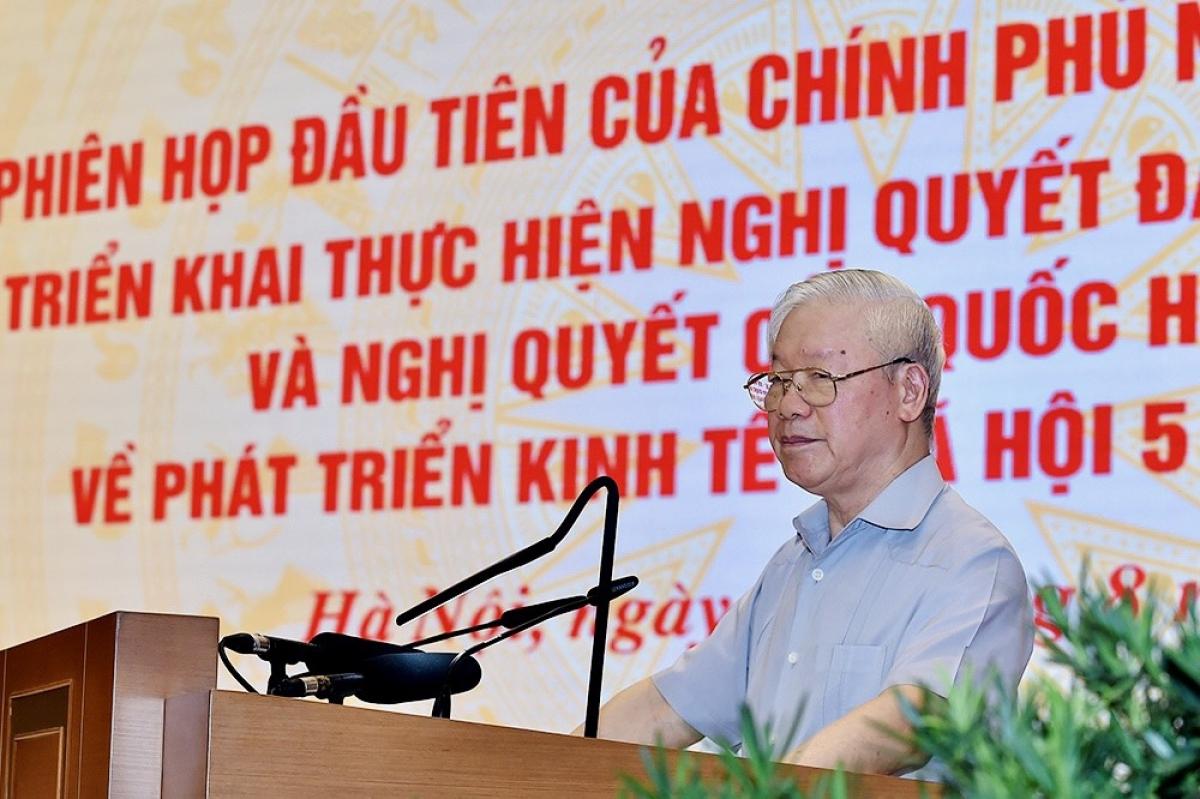 Tổng Bí thư Nguyễn Phú Trọng phát biểu chỉ đạo tại phiên họp.
