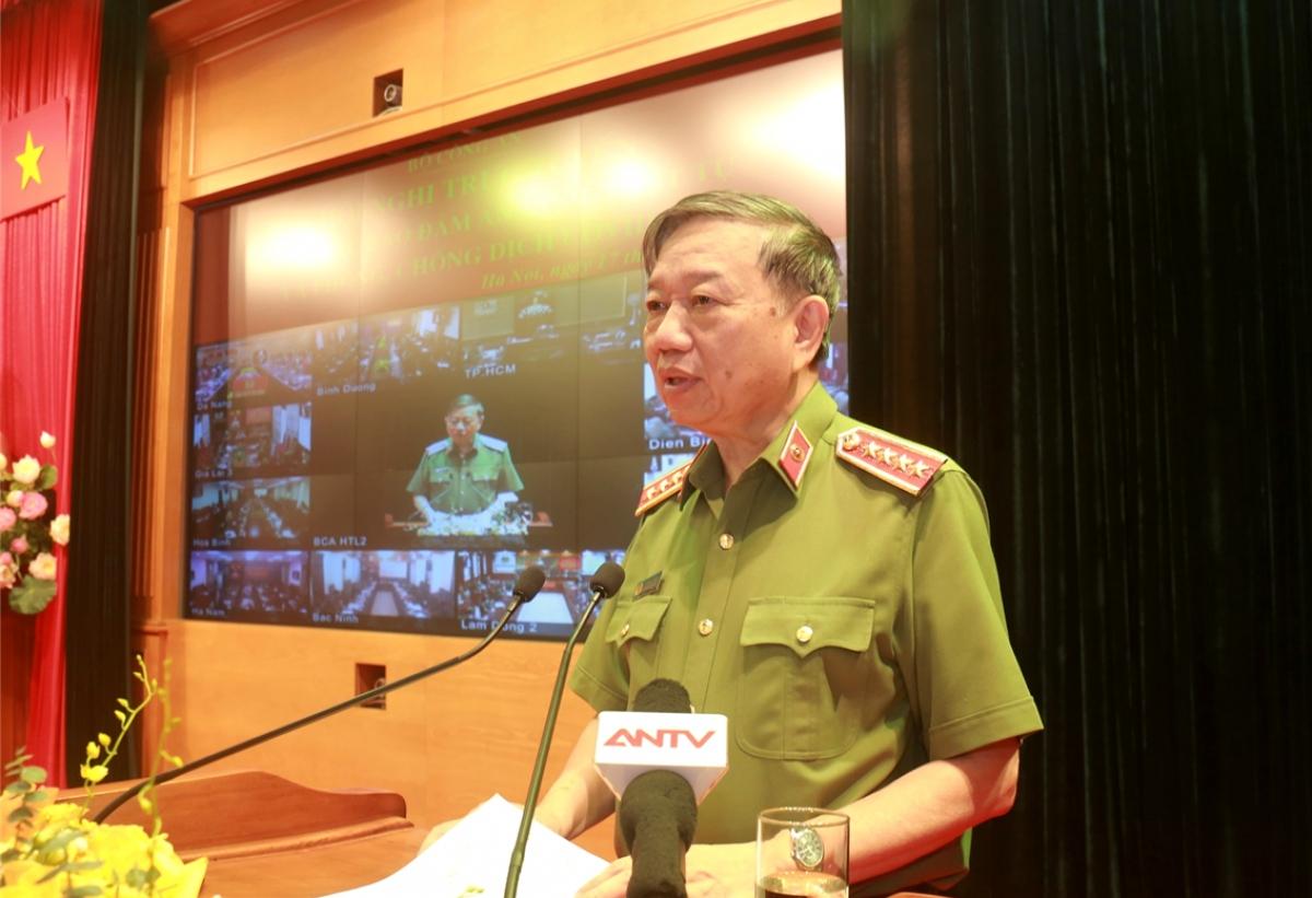 Bộ trưởng Tô Lâm phát biểu tại hội nghị.