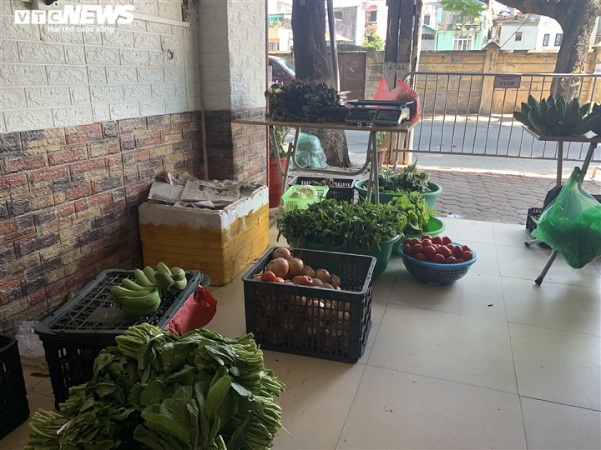 Đây là những mớ rau tươi xanh mới mới được cô Oanh (đường Hoàng Hoa Thám, quận Tây Hồ) mua về để bán lại cho khách.