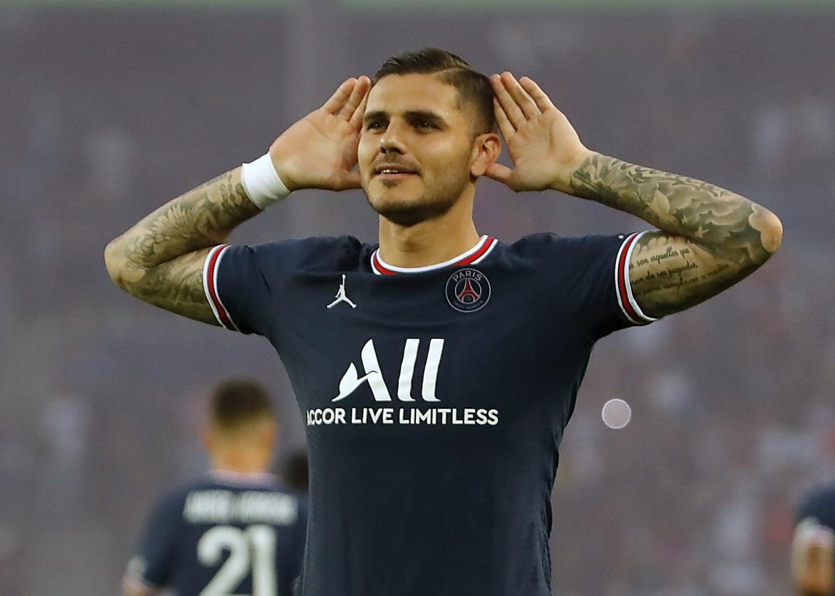 Mauro Icardi mở tỉ số ngay ở phút thứ 3 cho PSG (Ảnh: Reuters).