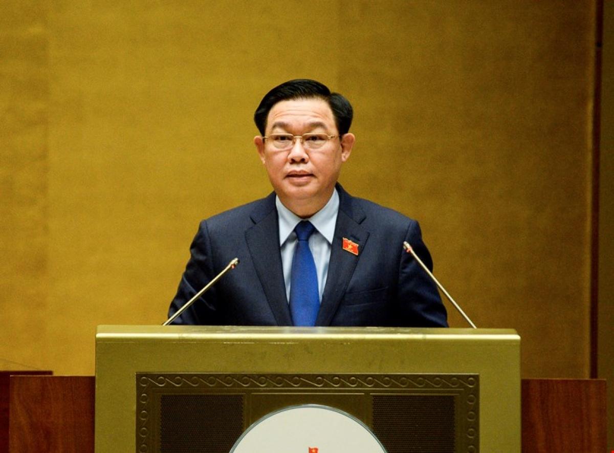 Chủ tịch Quốc hội Vương Đình Huệ.
