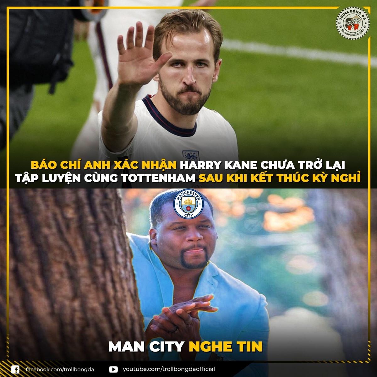 Man City mừng thầm. (Ảnh: Troll Bóng Đá)