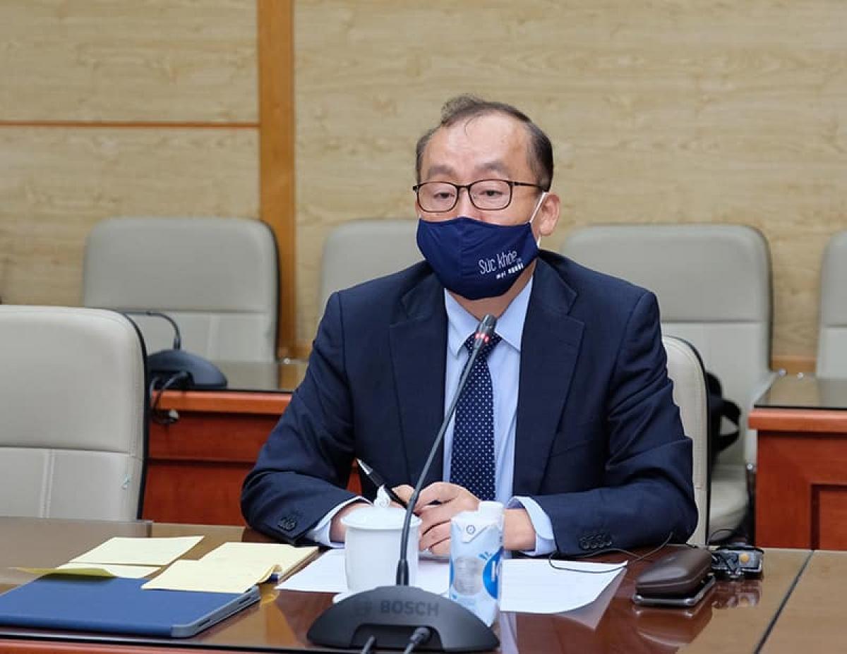 Ông Kidong Park, Trưởng Đại diện Tổ chức Y tế Thế giới (WHO) tại Việt Nam tại buổi làm việc chiều 3/8.