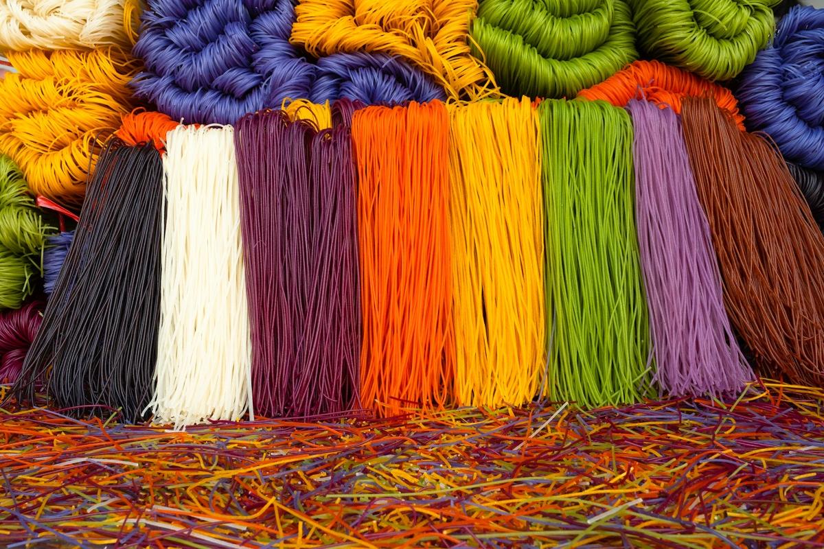 Sản phẩm bún ngũ sắc tại xóm Hồng Quang, xã Hưng Đạo,TP. Cao Bằng.Nguồn: Hà Cương
