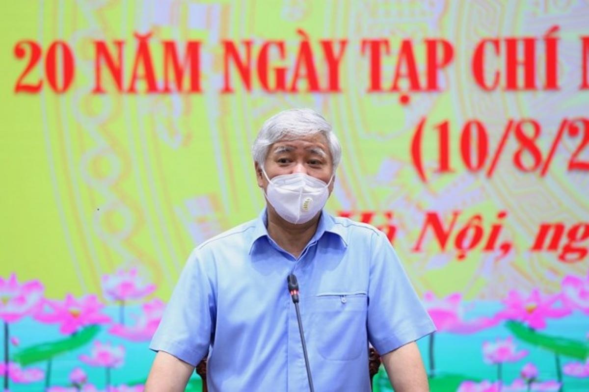 Bí thư Trung ương Đảng, Chủ tịch Ủy ban Trung ương Mặt trận Tổ quốc Việt Nam Đỗ Văn Chiến phát biểu tại buổi lễ.