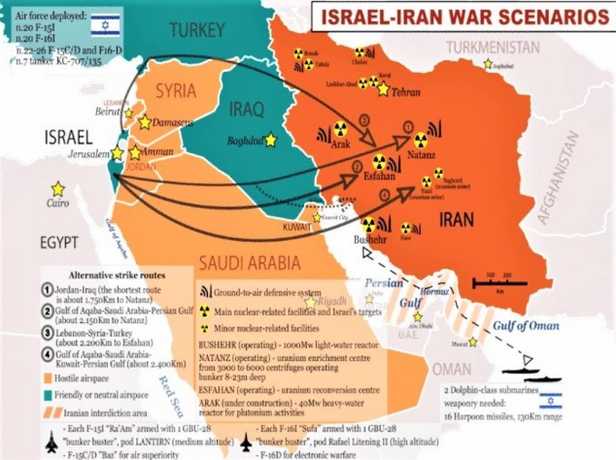 Thông tin Israel sẽ tấn công các mục tiêu của Iran bị rò rỉ trên mạng từ lâu; Nguồn: Real-politique.