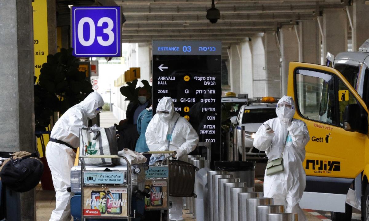 Israel quy định cách ly bắt buộc 14 ngày đối với du khách từ 18 quốc gia. Ảnh: RT