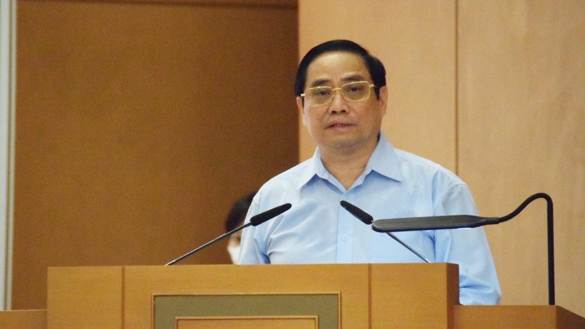 Thủ tướng Phạm Minh Chính phát biểu tại phiên họp.