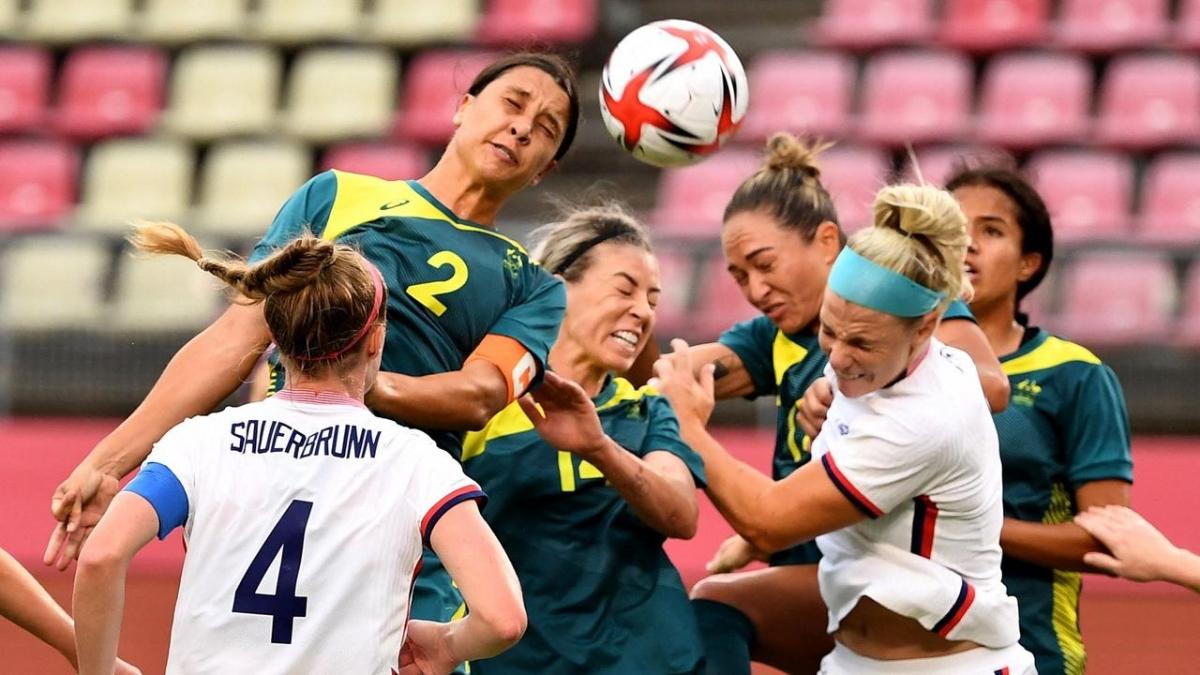 ĐT nữ Mỹ sẽ tranh tài với ĐT nữ Australia ở trận tranh HCĐ bóng đá nữ Olympic Tokyo. (Ảnh: Getty).