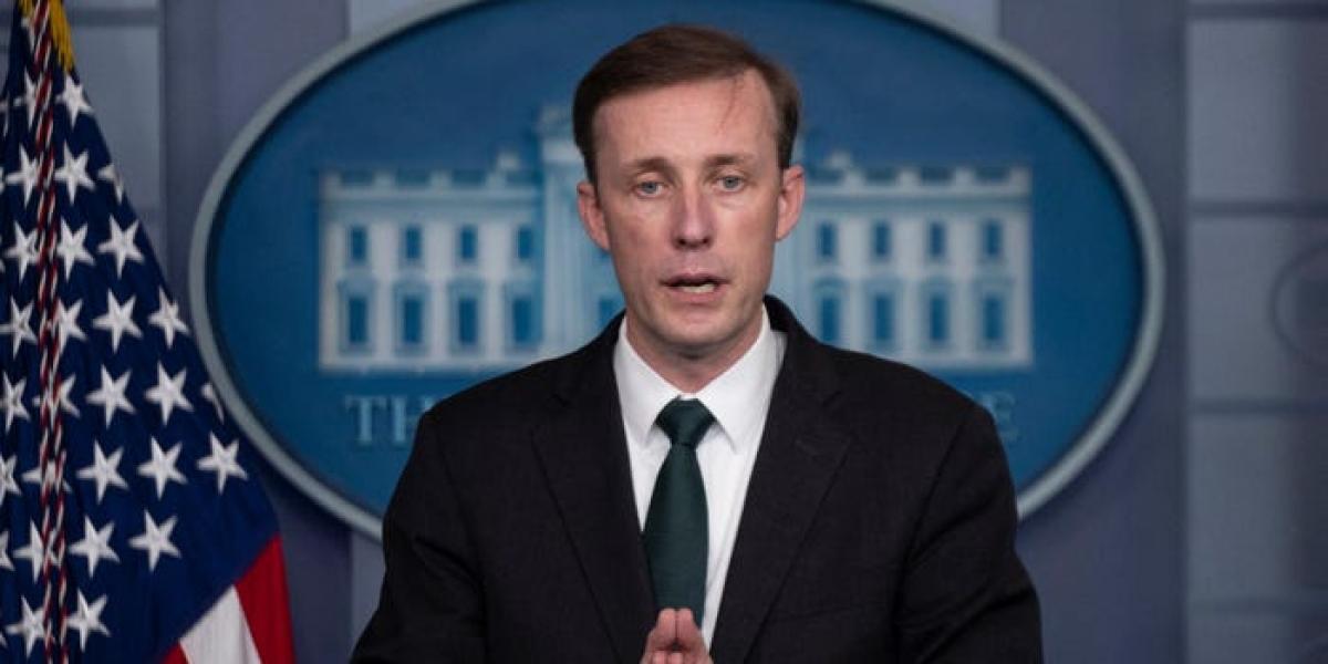 Cố vấn An ninh Quốc gia Mỹ Jake Sullivan phát biểu trong cuộc họp báo về tình hình Afghanistan tại Nhà Trắng vào ngày 17/8. Ảnh:Getty Images