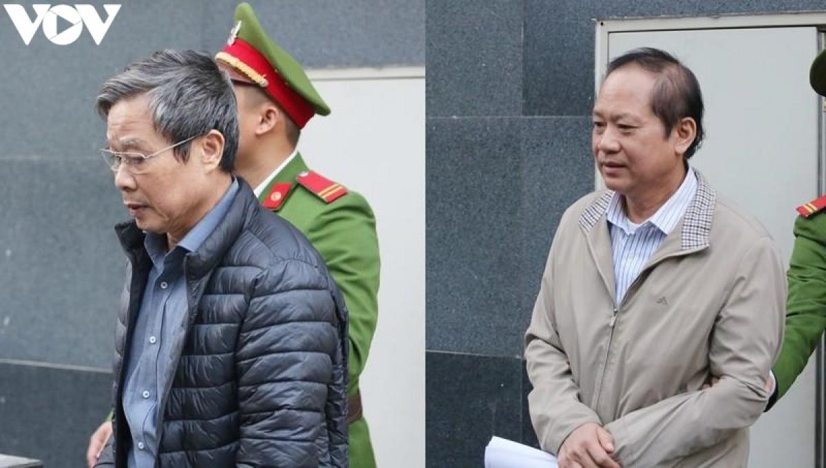 Hai cựu Bộ trưởng Nguyễn Bắc Son và Trương Minh Tuấn hầu tòa trong đại án AVG.