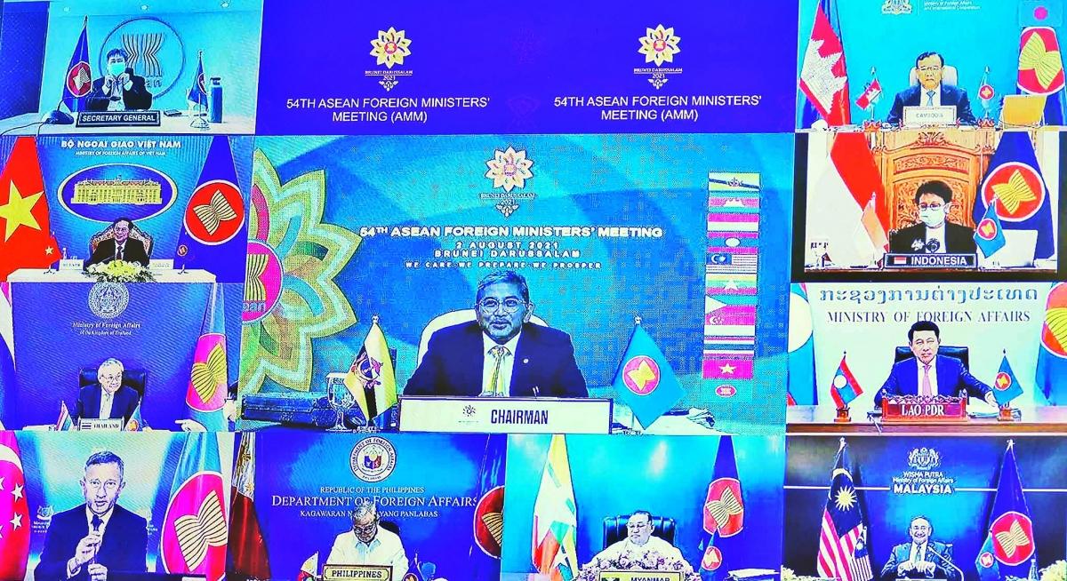Hội nghị Bộ trưởng Ngoại giao ASEAN lần thứ 54 (AMM-54) đã khai mạc trực tuyến sáng 2/8.