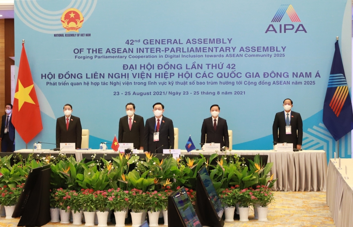 The high-ranking delegation of the Vietnam National Assembly at the event