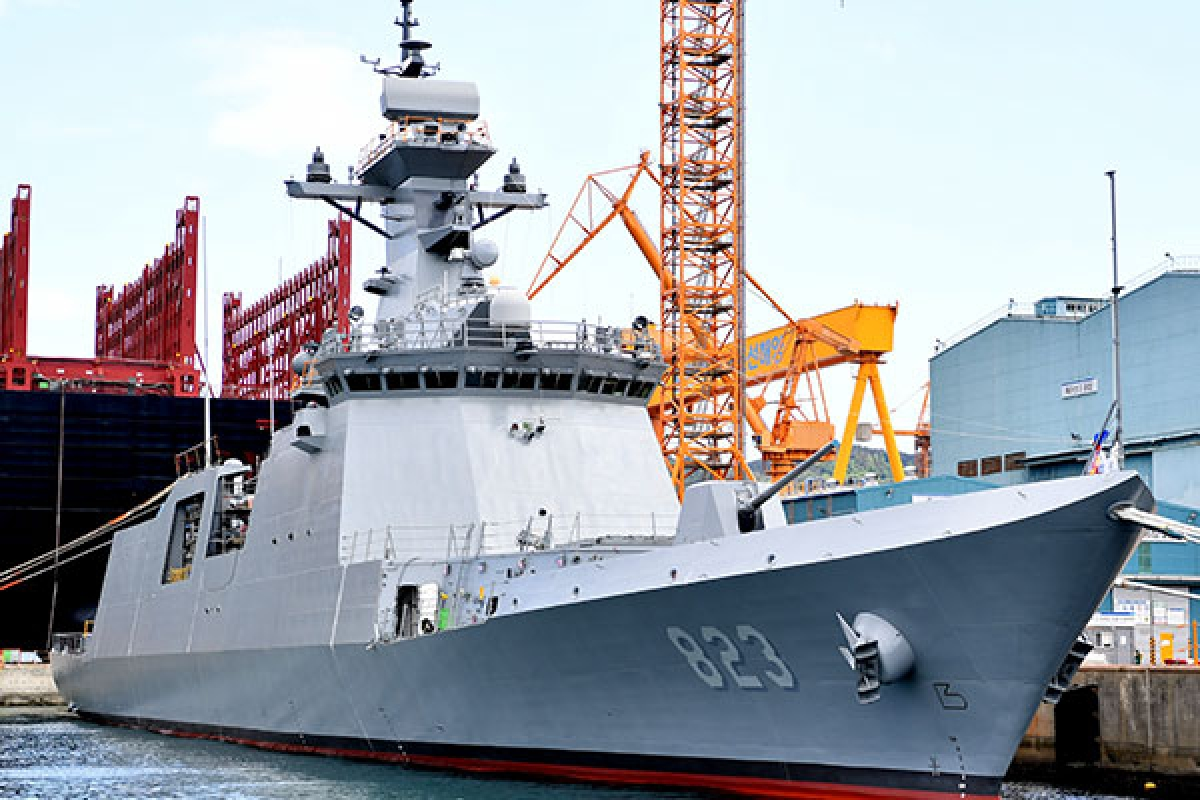 Hàn Quốc mạnh tay chi hơn 3 tỷ USD để có tàu hộ vệ kiểu mới. Ảnh minh họa: Yonhap