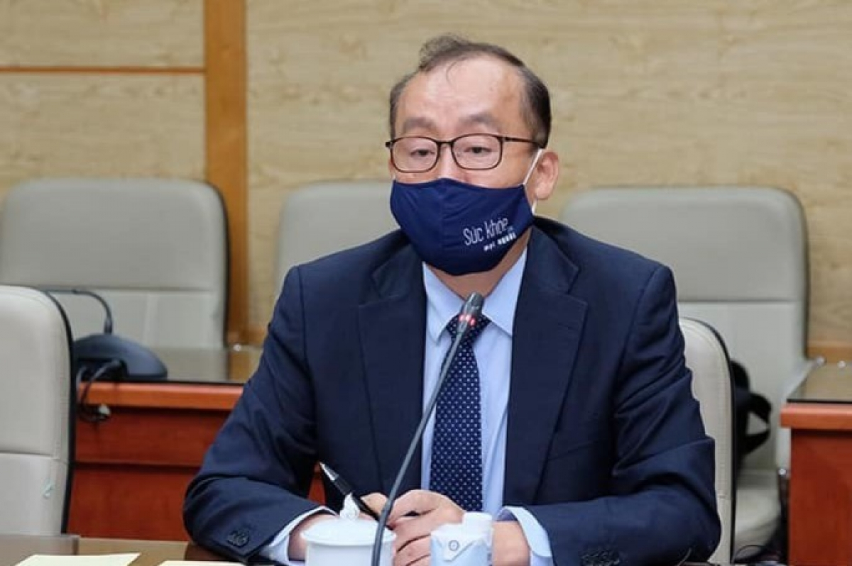 WHO Vietnam Representative Kidong Park says the WHO stays ready to support Vietnam in the COVID-19 fight. (Photo: MoH)