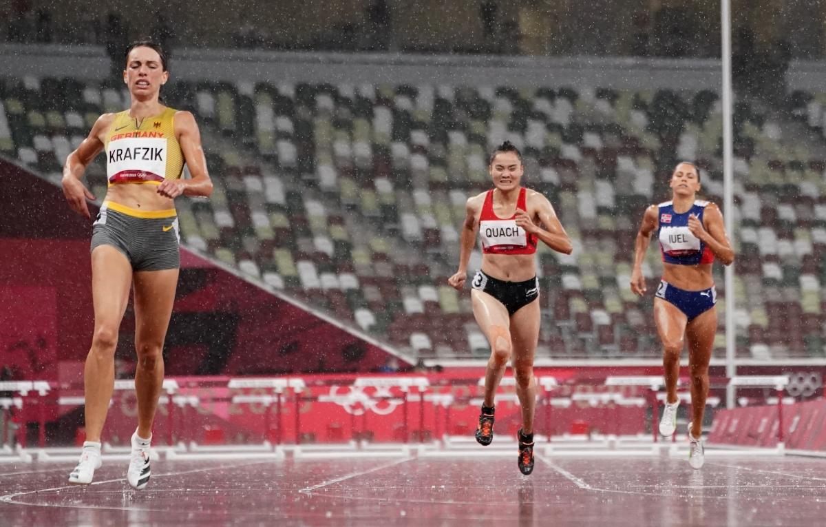 Quách Thị Lan là VĐV Việt Nam cuối cùng thi đấu tại Olympic Tokyo 2020. (Ảnh: Reuters)