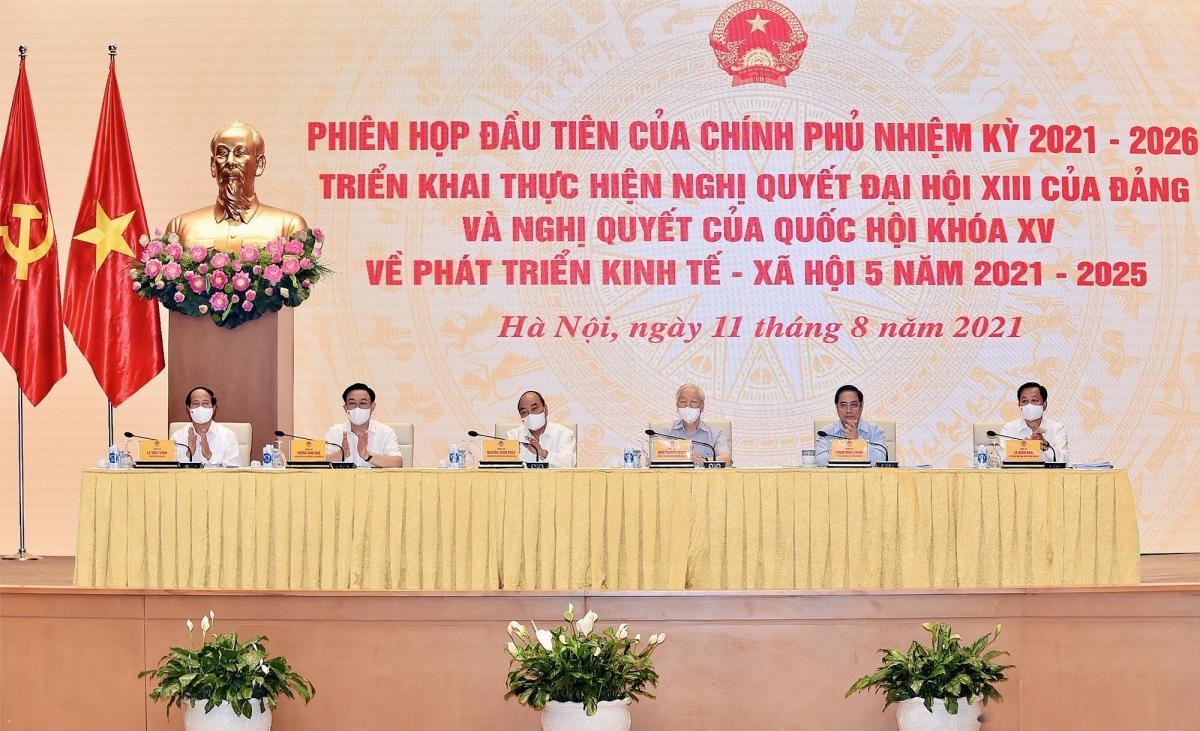 Phiên họp đầu tiên của Chính phủ khóa XV