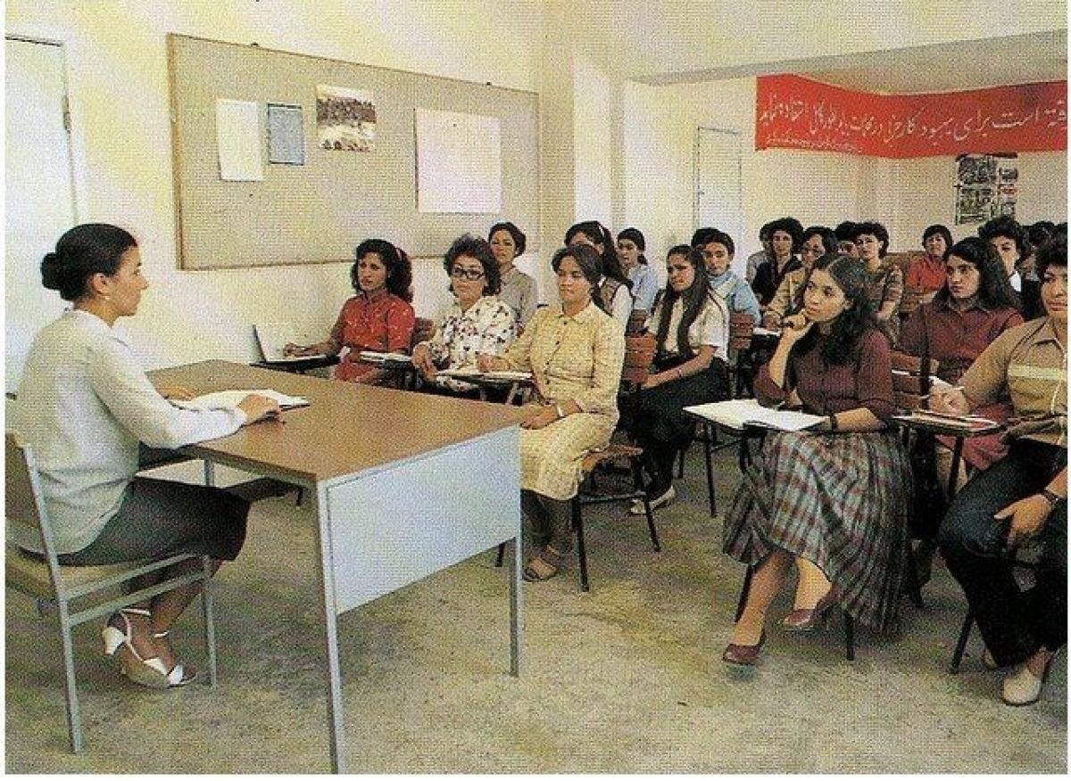 Một lớp học dành cho phụ nữ năm 1980.