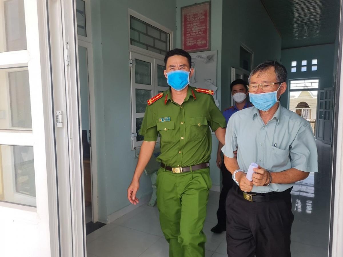 Phí Văn Thành bị bắt để phục vụ điều tra (Ảnh: VKS cung cấp)