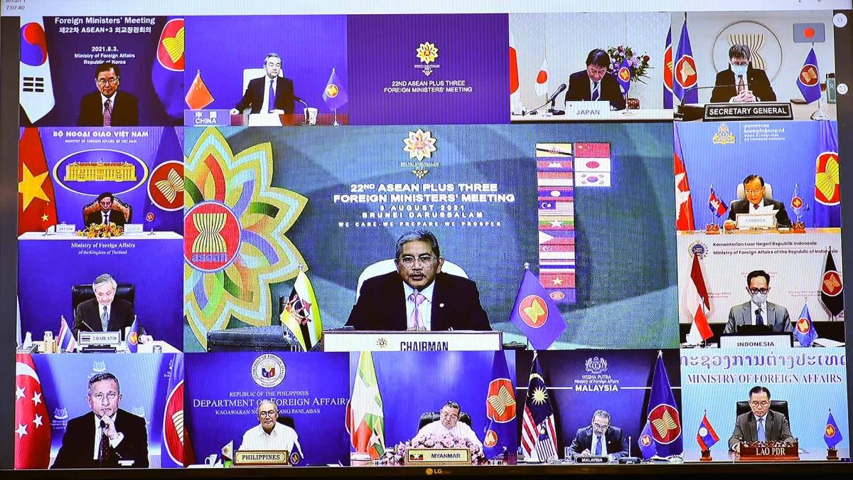 Hội nghị Bộ trưởng Ngoại giao ASEAN+3 lần thứ 22 diễn ra theo hình thức trực tuyến.