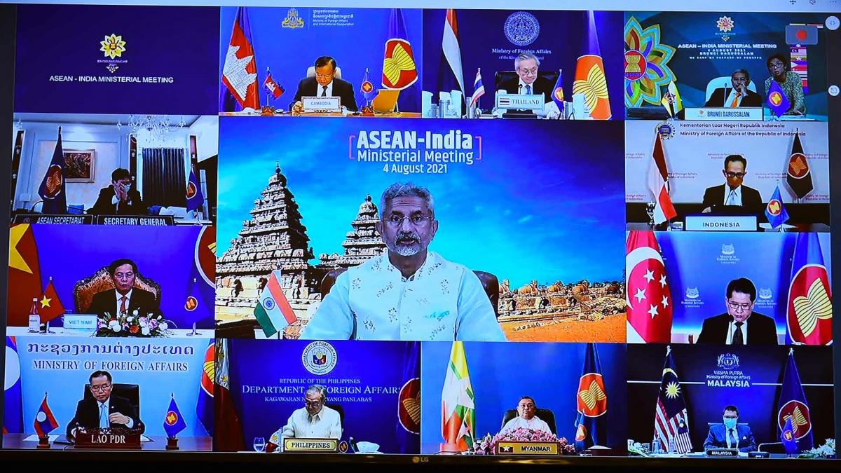 Hội nghị trực tuyến Bộ trưởng Ngoại giao ASEAN - Ấn Độ.