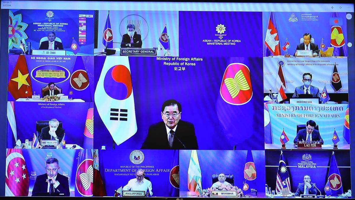 Hai bên nhất trí sẽ ra Tuyên bố tăng cường hợp tác ASEAN-Hàn Quốc về AOIP tại Hội nghị cấp cao ASEAN-Hàn Quốc lần thứ 22 cuối năm nay.