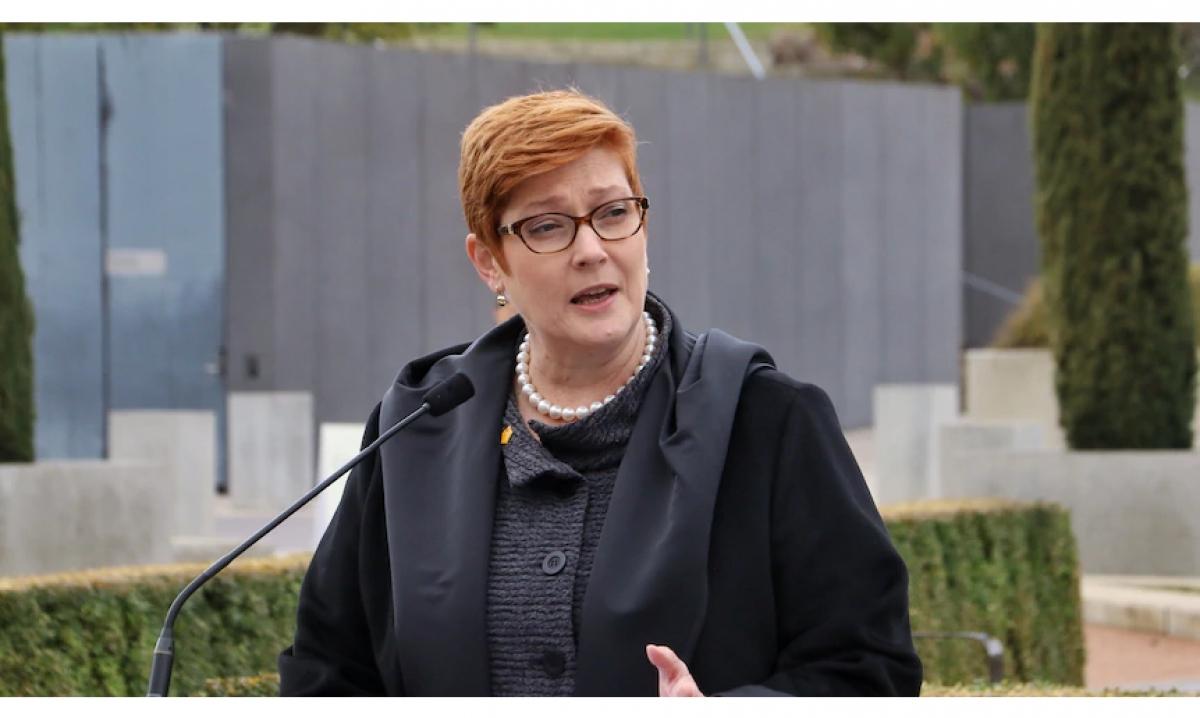 Bộ trưởng Ngoại giao Australia Marise Payne. Nguồn: ABC News