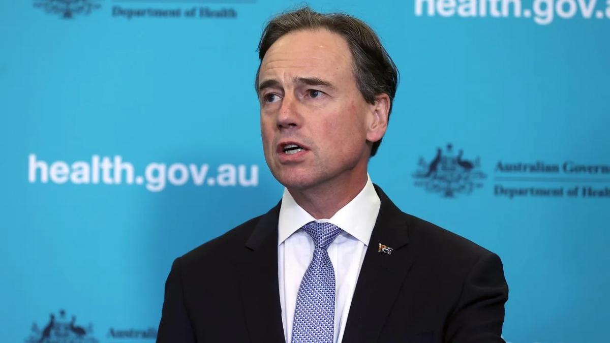 Bộ trưởng Y tế Australia Greg Hunt. Nguồn: Gary Ramage