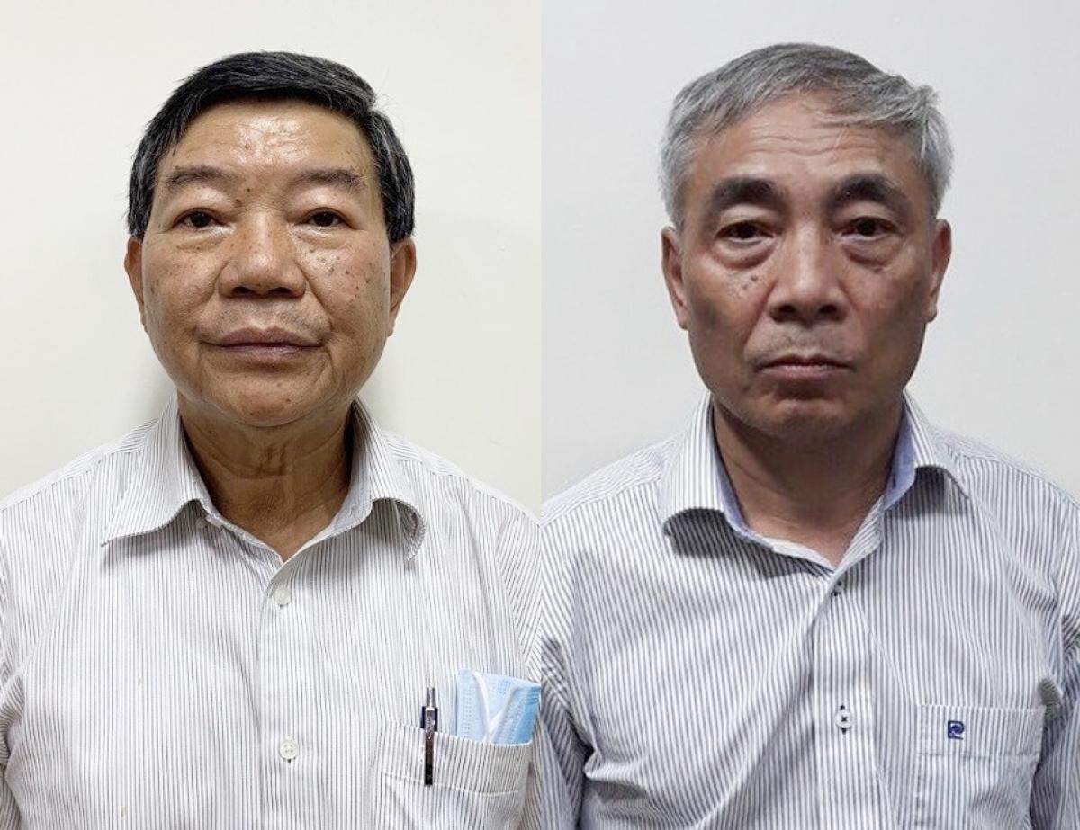 Bị canNguyễn Quốc Anh, nguyên Giám đốc Bệnh viện Bạch Mai (trái) và Nguyễn Ngọc Hiền, nguyên Phó Giám đốc Bệnh viện Bạch Mai.