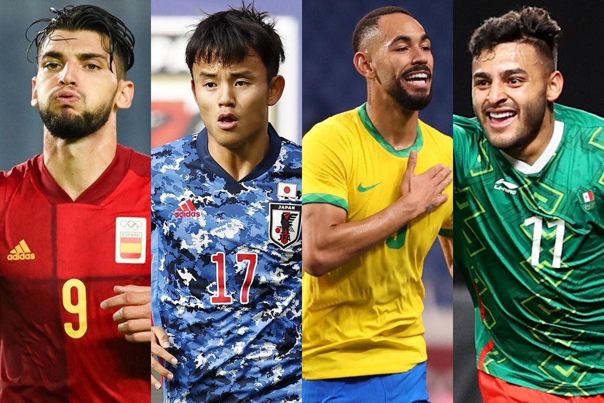4 đội bóng góp mặt ở bán kết môn bóng đá nam Olympic Tokyo. (Ảnh: Getty)