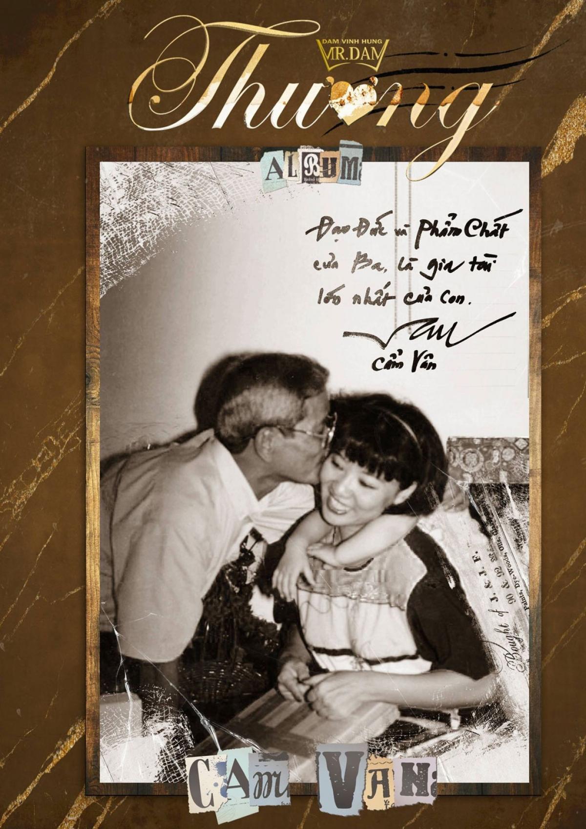 Hình ảnh nghệ sĩ Thành Lộc, ca sĩ Cẩm Vân chụp cùng cha mình kèm những dòng thư tay đầy cảm xúc trong MV Cha của Đàm Vĩnh Hưng