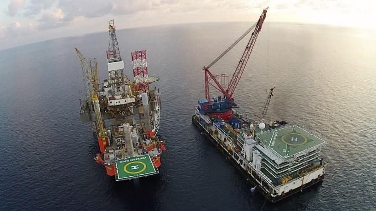 Công ty KrisEnergy khai thác dầu tại vùng biển Campuchia. Ảnh: KrisEnergy