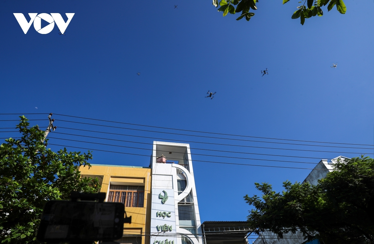 Drones on duty in Hoa Thuan Dong ward