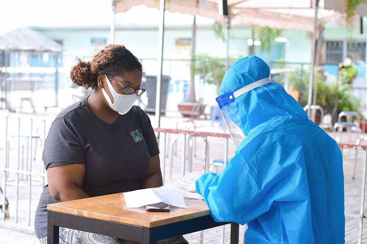 Healthcare declarations are also required at the inoculation site.