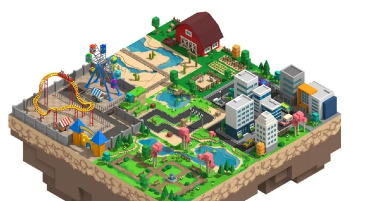 Vùng đất ảo trong The Sandbox trên nền tảng của Yield Guild Games.