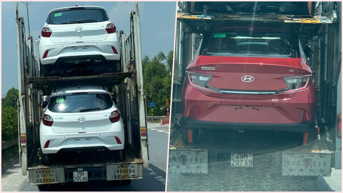 Phân đuôi của Hyundai Grand i10 2021 dánghatchback và sedan có nhiều điểm khác biệt.