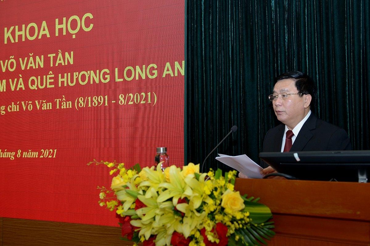 Giám đốc Học viện Chính trị quốc gia Hồ Chí Minh Nguyễn Xuân Thắng phát biểu tại Hội thảo