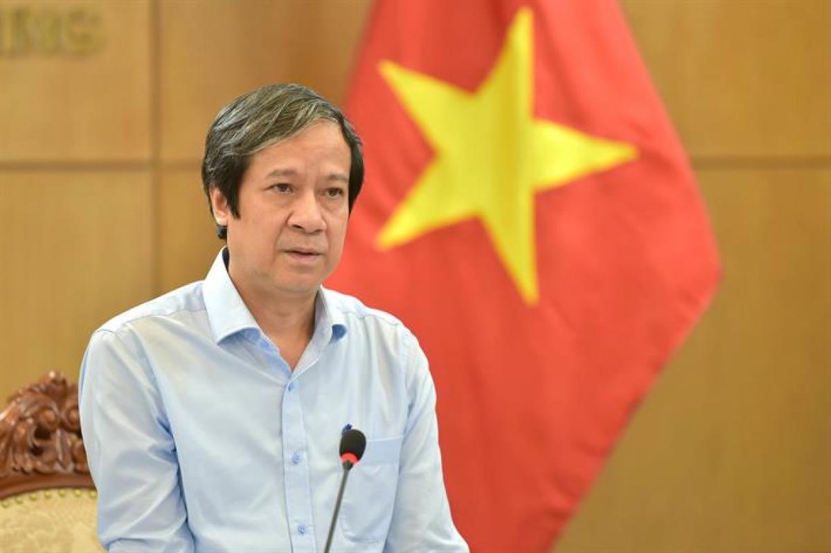Bộ trưởng Nguyễn Kim Sơn phát biểu tại hội nghị.