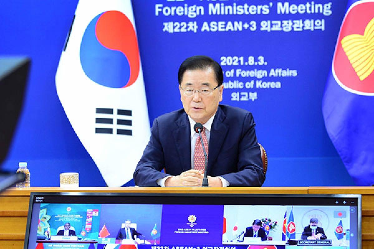 Ngoại trưởng Hàn Quốc Chung Eui-yong. Ảnh: Yonhap