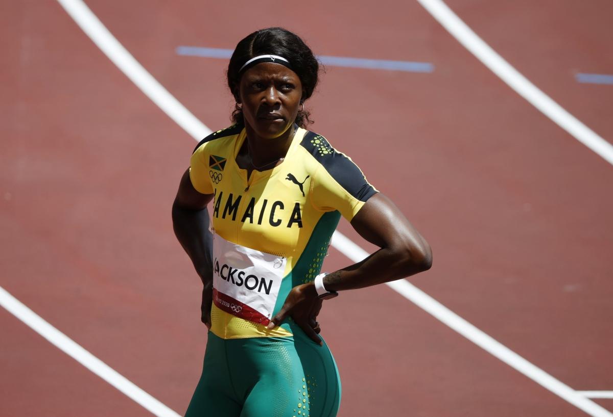 """Khuôn mặt """"thất thần"""" củaShericka Jackson sau khi bị loại. (Ảnh: Reuters)."""